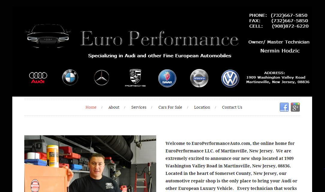 Custom header and website